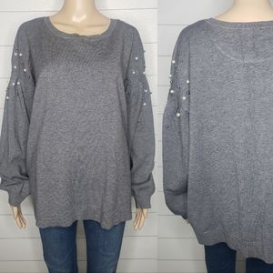 INC International Concepts Beaded Sweater Size 2X
